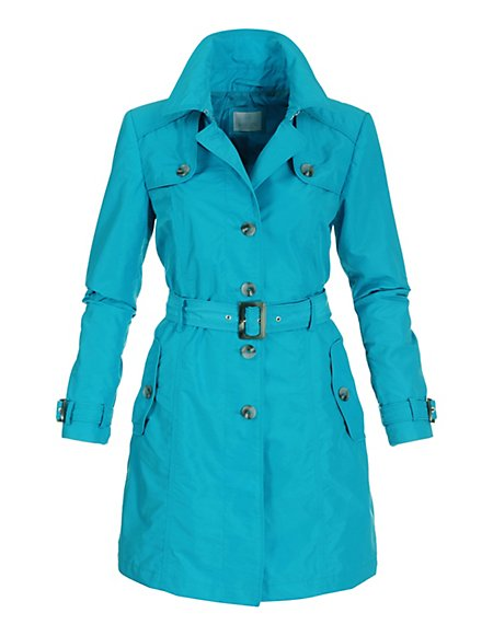 Kurzer Trenchcoat Damen türkis / blau