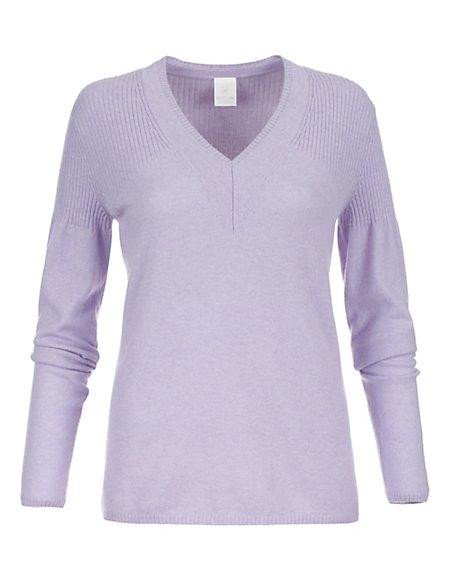 kaschmir pullover lila