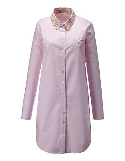 MADELEINE  Chemise de nuit. Pur coton femme multicolore / rose pâle