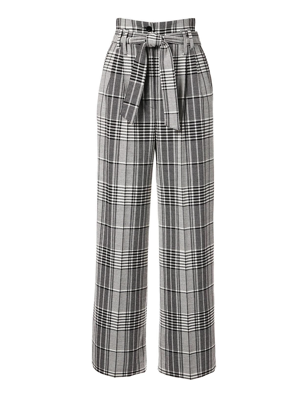 100% Qualitätsgarantie Bestbewertet authentisch große Auswahl Weite Karo-Hose mit Bund- und Bügelfalten, schwarz/weiß ...