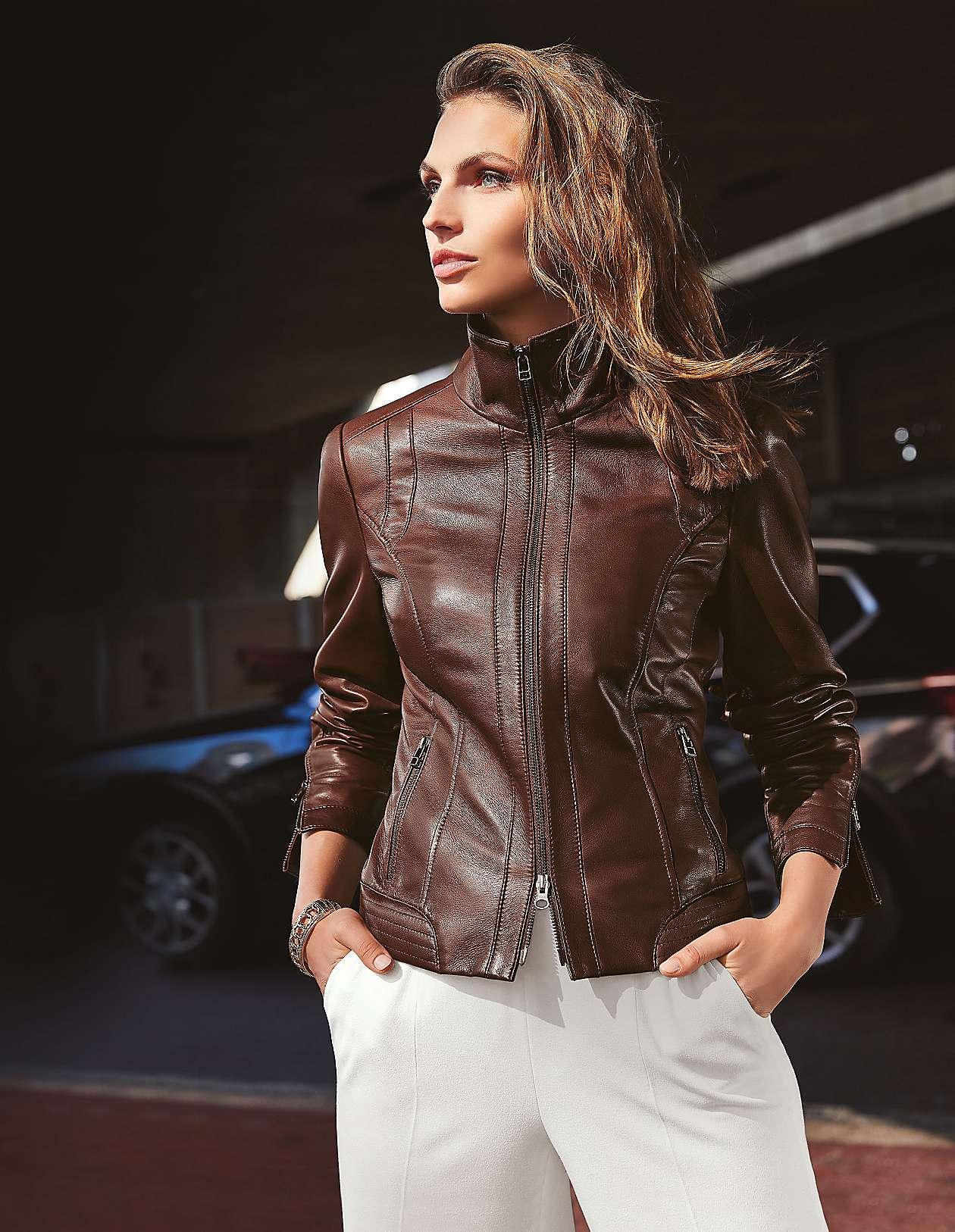 Stilvolle Lederjacken für Damen kaufen | MADELEINE Mode