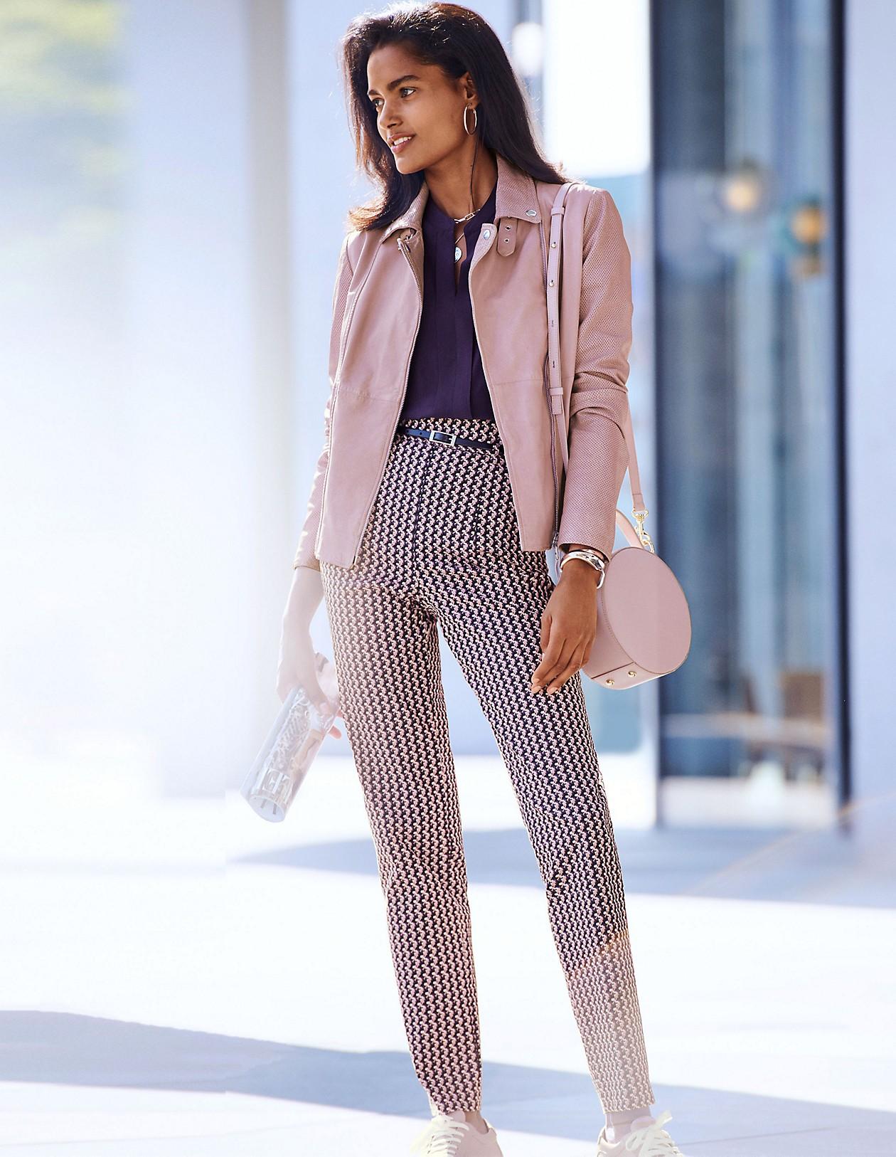 Highwaist Hose, multicolor, grau | MADELEINE Mode Österreich